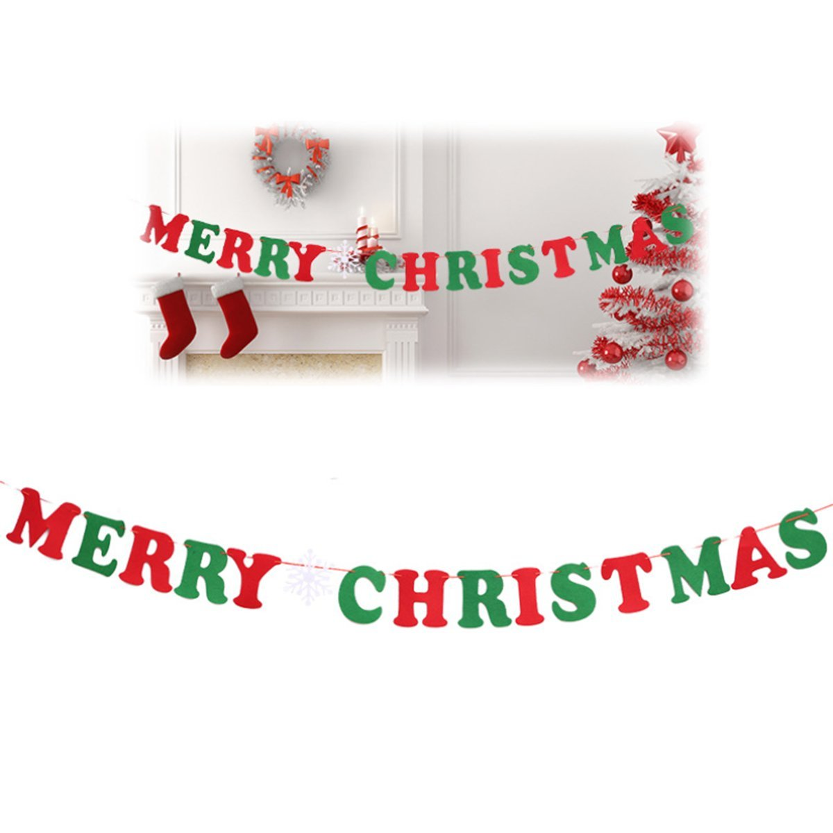 Christmas Banners.Auony Merry Christmas Banners Hanging Bunting Pennant Party Banner For Christmas Party Holiday Home