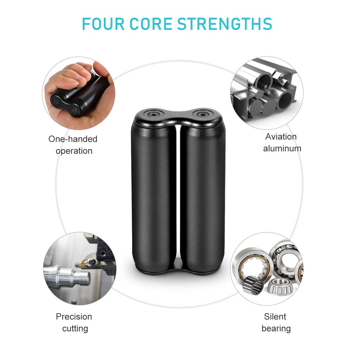 MuD-A Anti-Anxiety Toys,Handheld Fidget Toy for Adults,Relieving Stress Boredom ADHD Autism,Easy to Carry and Use (Black) by MuD-A (Image #3)