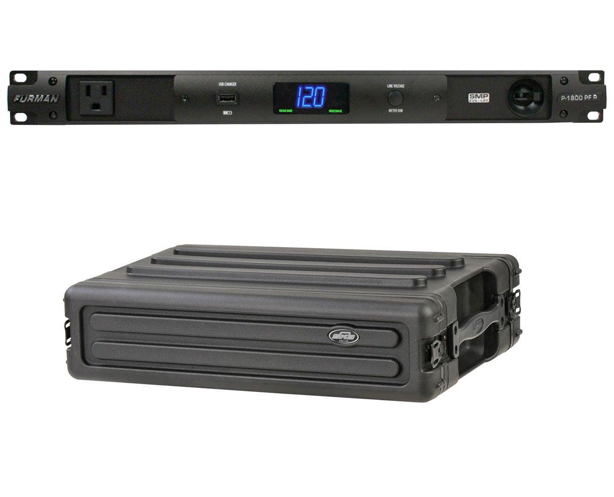 Furman P-1800 PF R 15 Amp Power Conditioner + SKB 1SKB-R2S 2U Shallow Rack