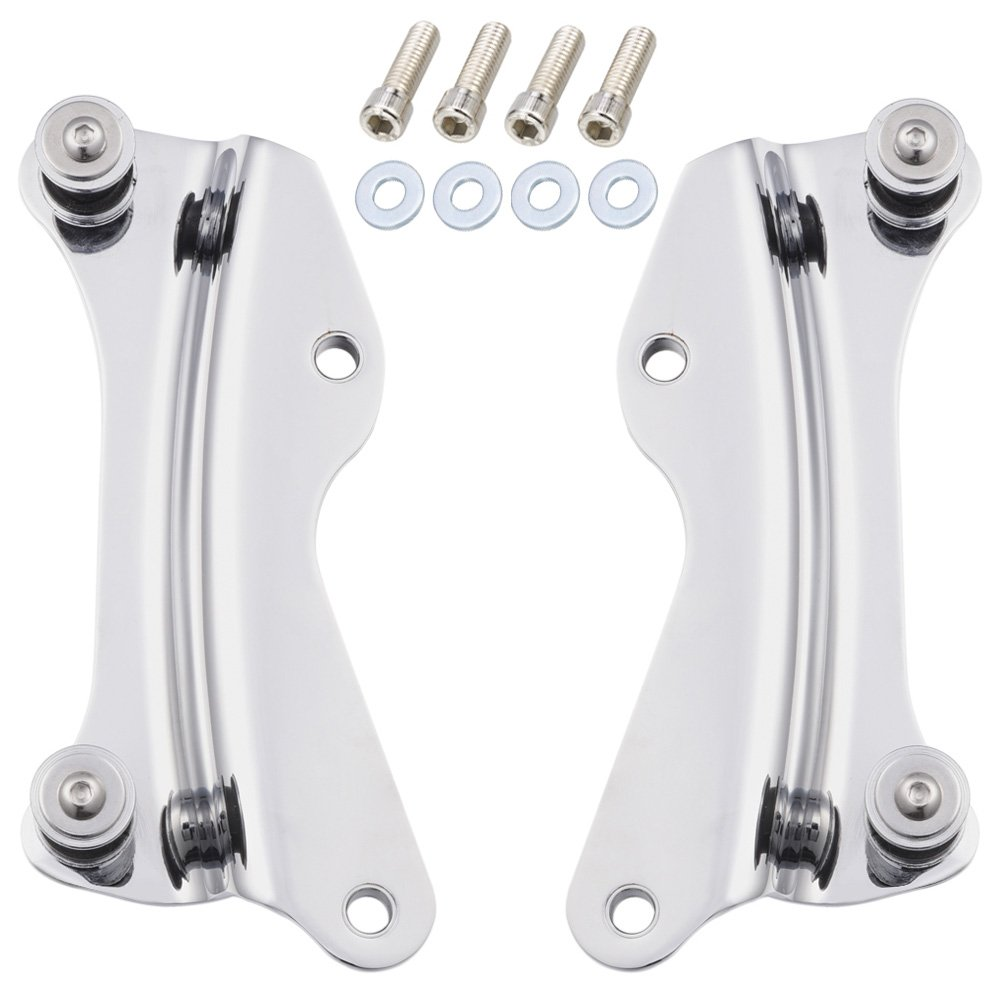 Amazicha Chrome 4 Point Docking Hardware Kit for Harley Road King Street Glide 2014-2019 by Amazicha