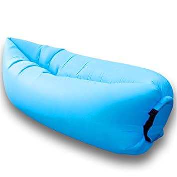 Waitiee Waterproof Inflatable Air Lounger With Integral Pillow Pool