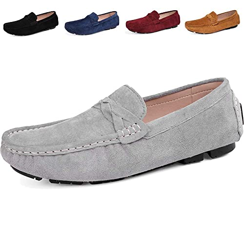 Gaatpot Hombres Pisos de Gamuza Mocasines Loafers Casual Zapatos de Conducción Zapatillas: Amazon.es: Zapatos y complementos
