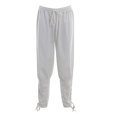 Pantalones de Hombre del Renacimiento Pantalones Vikingos Medievales Pantalones de Vikingos para Hombres Pantalones de Traje Pantalones