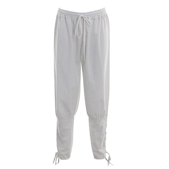 Pantalones de Hombre del Renacimiento Pantalones Vikingos ...
