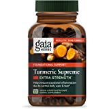 Gaia Herbs, Turmeric Supreme Extra Strength, Turmeric Curcumin Supplement with Black Pepper, Daily Joint Support…