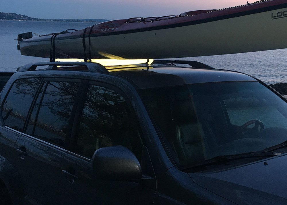 Surfboards Seattle Sports Sherpak Reflector Roof Rack Pad SUPs and Boats Seattle Sports Co Reflective Rack Padding for Kayaks 034590