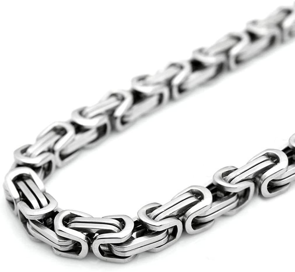 9mm Wide Unique Stainless Steel Link Chain Necklace Or Bracelet Mens Jewelry Silver Tone,7-40