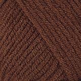 Mary Maxim Starlette Yarn - Chocolate Brown - 100% Ultra Soft Premium Acrylic Yarn for Knitting and Crocheting - 4 Medium Wor
