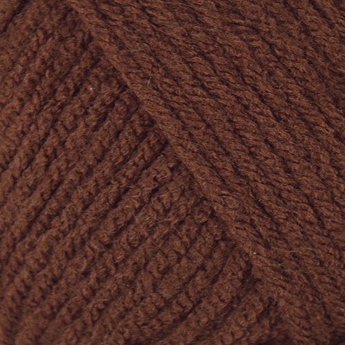 Mary Maxim Starlette Yarn - Chocolate Brown - 100% Ultra Soft Premium Acrylic Yarn for Knitting and Crocheting - 4 Medium Worsted Weight