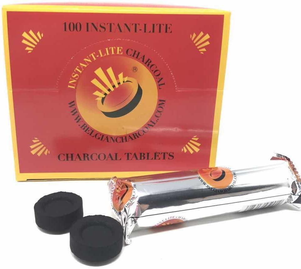 Lote de 10 Rollos Carbón para pipas de agua, shisha o cachimba Belgium Charcoal 33mm (100 carbones)