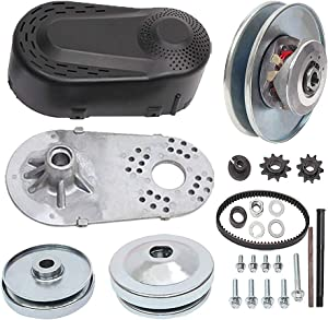 """MOOSUN Torque Converter Comet Clutch Go Kart Clutch 1 Inch Replaces Comet TAV2 Manco 10T 40 or 41 and 12T 35 Chain Drive Belt (1"""" 10T 40/41 and 12T 35 Chain)"""