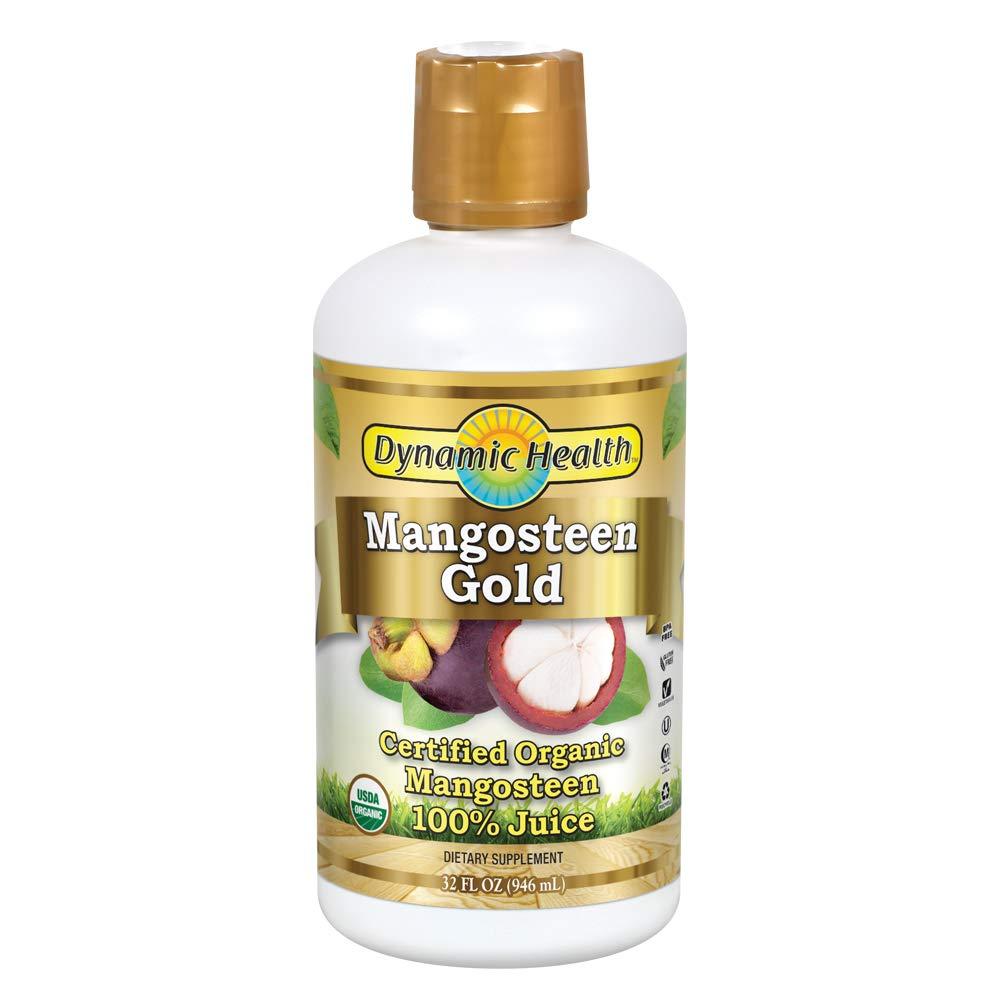 Dynamic Health 946ml 100 Percent Pure Organic Mangosteen Gold Mangosteen Juice