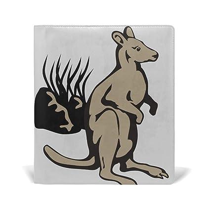 a2b6e0f2a7508 Amazon.com: Funny Kangaroo Leather Stretchable Book Covers Durable ...