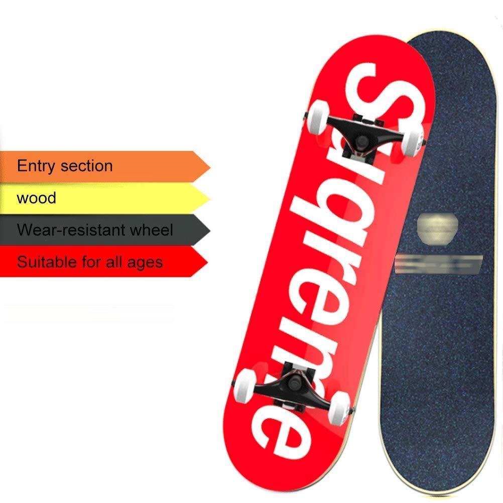 BIN Double-up Skateboard Adulto principiante a Quattro Ruote Scooter Originale di qualità del Legno, 80  20,5 Centimetri