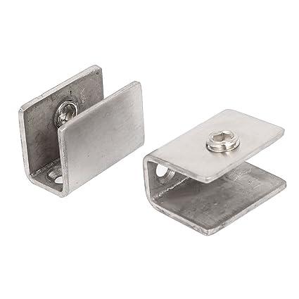 OUNONA En acier inoxydable /étag/ère en verre de fixation clip bracket Ventouse 8pcs