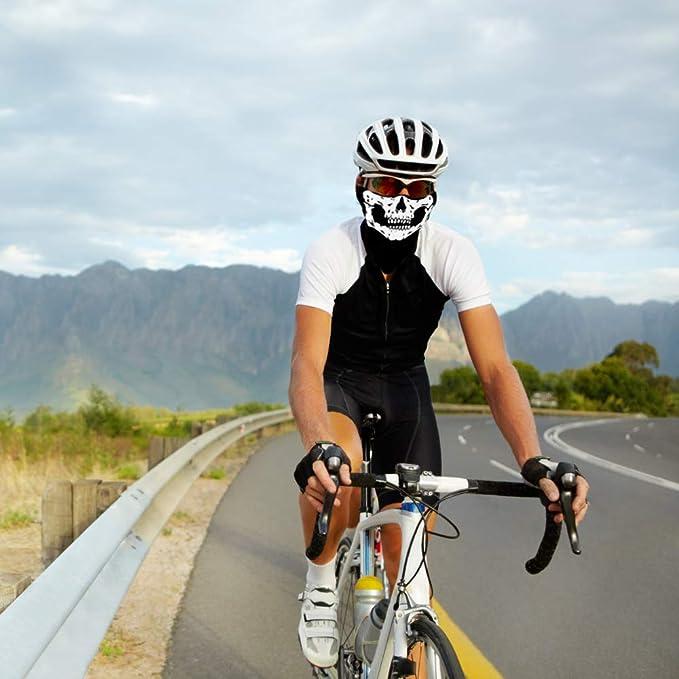 LYTIVAGEN Set de Guantes de Esqueleto y Máscara Facial de Calavera, Pasamontaña de Calavera, Accesorios de Disfraces para Halloween