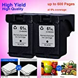 LOVEINK 2 Black Inkjet Cartridge 61 XL Ink for HP ENVY 4500 4501 4502 4504 5530 5531 5535
