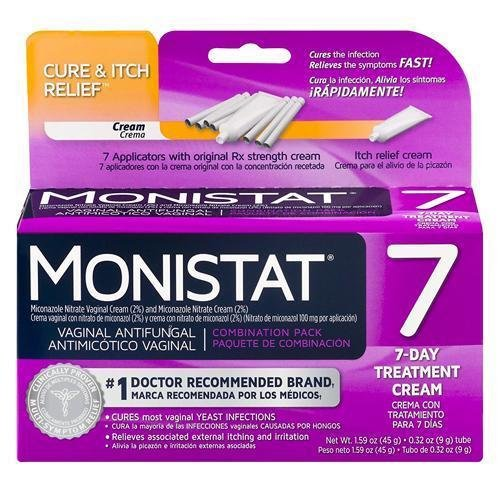 MONISTAT Vaginal Antifungal 7-Day Treatment Cream, Cure & Itch Relief by Monistat