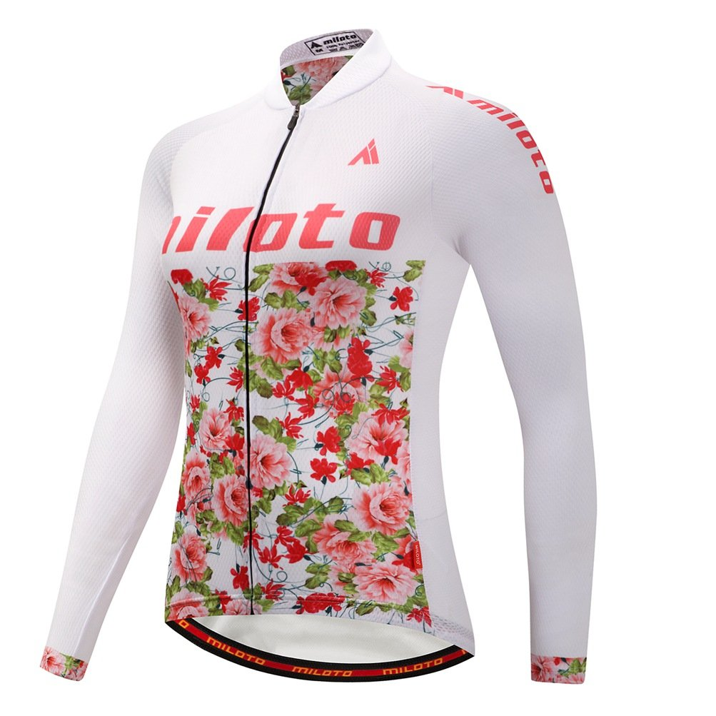 Uriah Women 's Cycling Jersey熱フリース長袖Reflective B076GYNL21 Chest 43.3''=Tag XXL|Flower Sea Flower Sea Chest 43.3''=Tag XXL