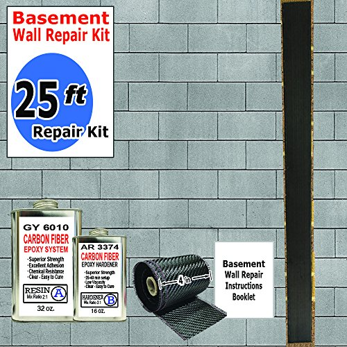 (25 ft-Carbon Fiber-Basement Wall Crack Repair Kit)