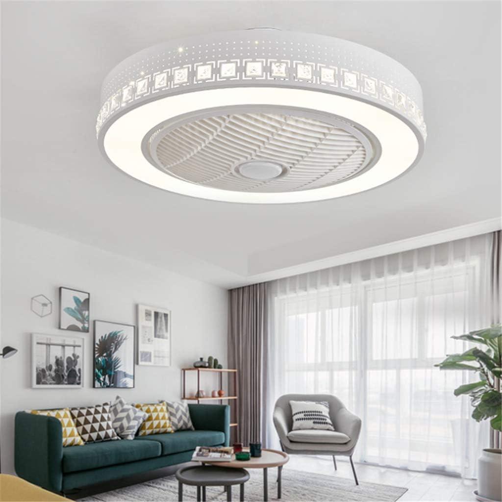 Ventilador de techo LED con mando a distancia regulable, ventilador de techo silencioso, lámpara de techo creativa para habitación infantil , moderna iluminación para salón o dormitorio Blanco -A