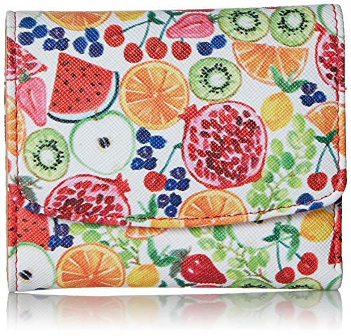 Buxton Fruit Fiesta Pik-Me-Up Mini-Trifold, Coral ()