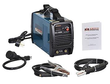 Amico Power Amico 160 AMP DC 115/230 V Voltaje Dual de soldador soldadura soldadura máquina: Amazon.es: Bricolaje y herramientas