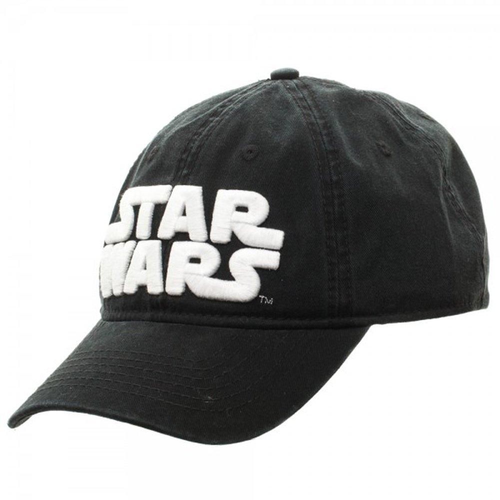 buy popular 1a7c0 3b434 Amazon.com  Star Wars Logo Black Adjustable Cap  Clothing