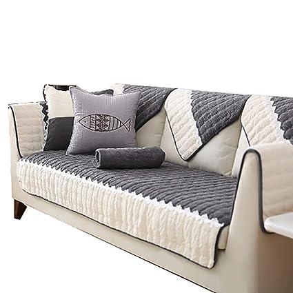 Amazon.com: DFamily Modern Couch slipcover Winter Sofa Covers Sofa ...