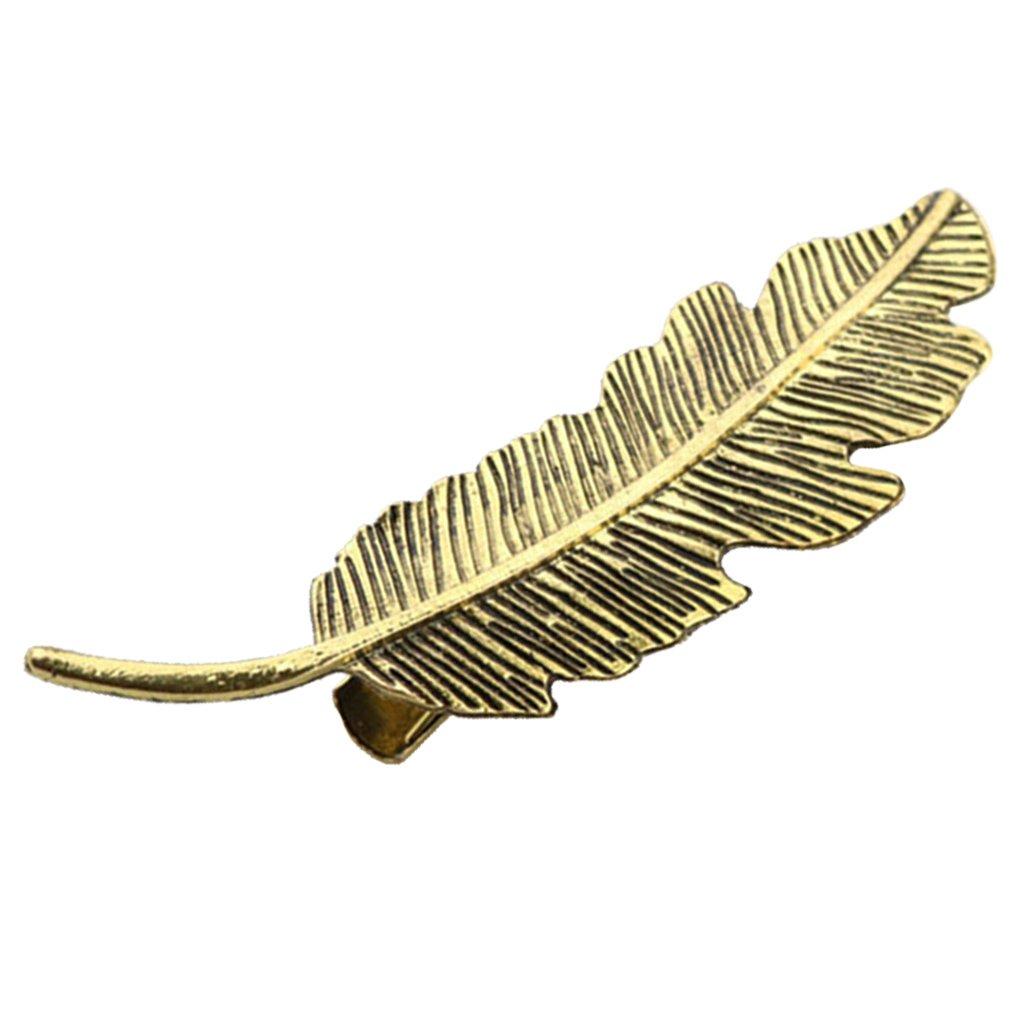 Dovewill Vintage Leaf Shape Women Girl Hair Clip Pin Hair Barrette Bobby Pins Hair Accessories