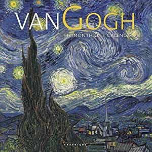 (12x12) Van Gogh Masterpieces (Starry Night, Sunflowers) 2013 Wall Calendar