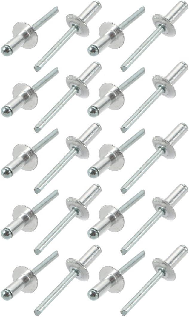 Sourcingmap/ /20/pcs 6,4/mm x 16/mm x 16/mm aluminio extremo abierto brida grande remaches ciegos