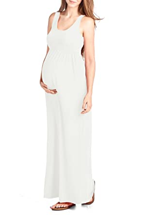 1c9ed8be6593f8 Beachcoco Women's Maternity Maxi Tank Dress Made in USA at Amazon ...