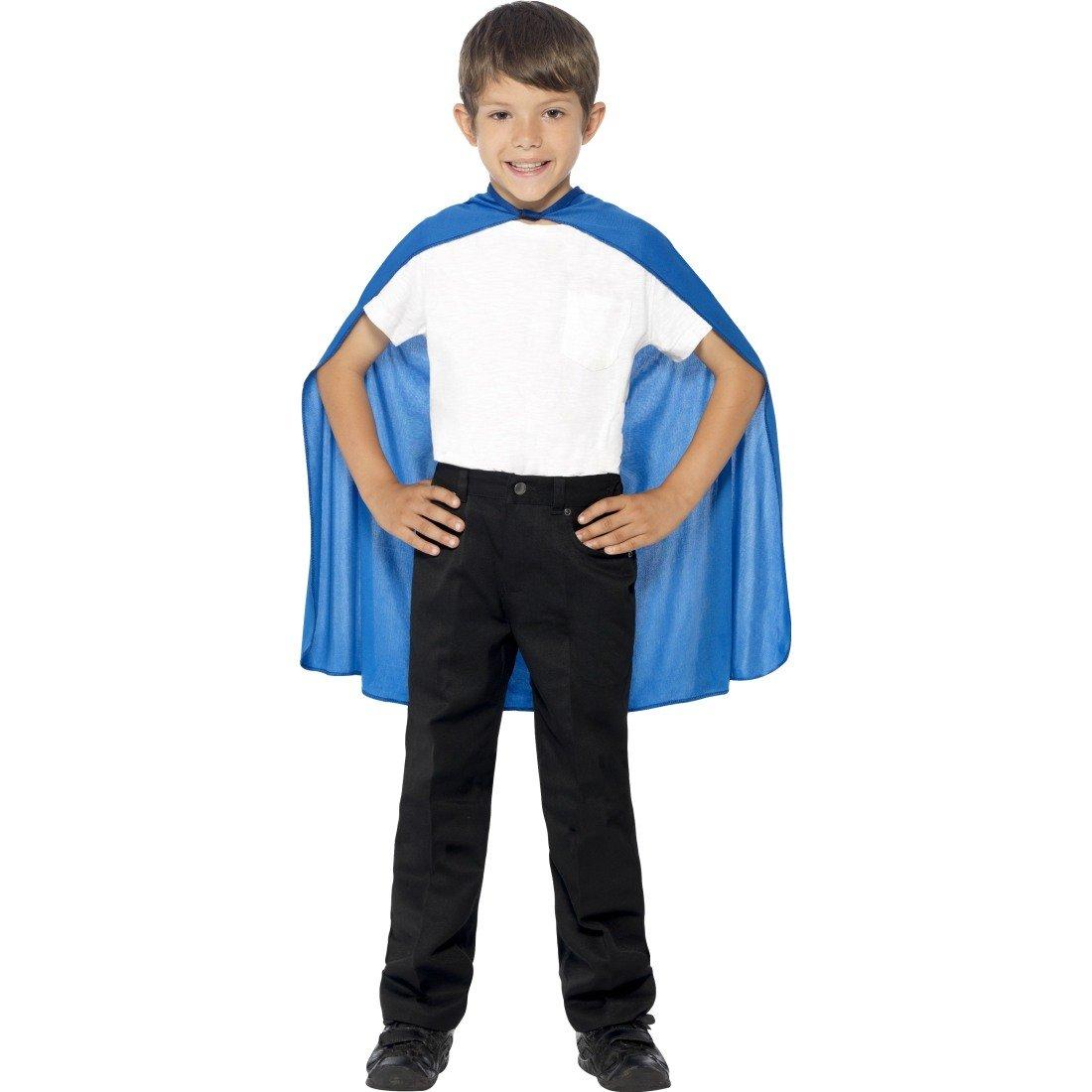 Amakando Superheldenumhang - Blau - Superman Umhang Helden Kostü m Jungen Kinder Superheld Kostü m Superhero Cape Outfit Blauer Kinderumhang