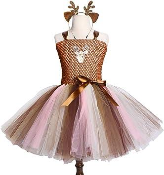 QWER - Disfraz de Ciervo para Halloween, Vestido de tutú para ...