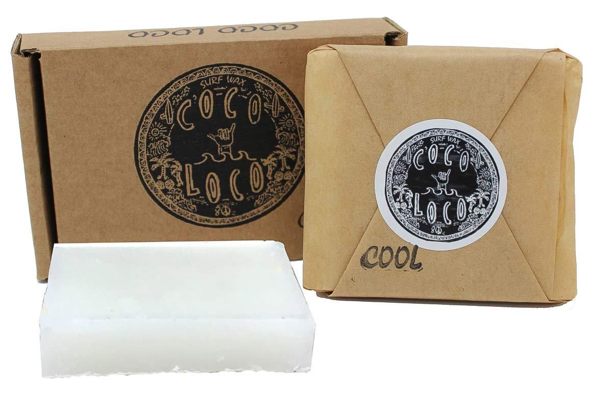 Coco Loco Cool Water Surf Wax 75 g de noix de coco Parfum Surf Cire Planche de surf Dirtbusters DB-000499