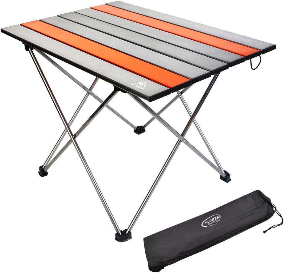 tragbarer Grilltisch aus Aluminiumlegierung HERCHR Klappbarer Camping-Tisch 13,8 x 9,8 x 4,3 Zoll