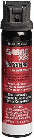 Sabre Red 52CFT30 Crossfire Stream (MK-4) Pepper Spray, 1.33% MC, 3.0 Ounces