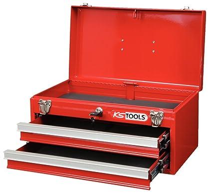 KS Tools 891.0002 - Caja de herramientas (2 cajones, 1 bandeja, vacía)