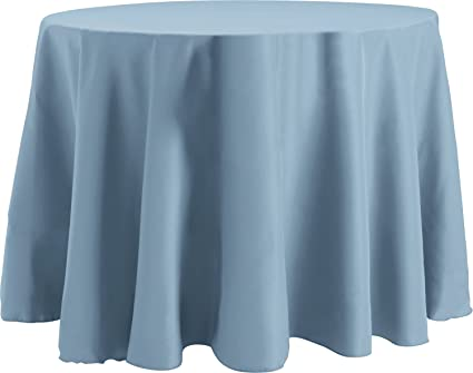 Ordinaire Bright Settings 120 Inch Round Tablecloth, Flame Retardant Basic Polyester,  Slate Blue