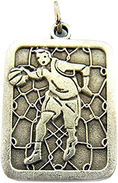 925 Sterling Silver Antiqued Football Rectangle Polished Flat-back Charm Pendant