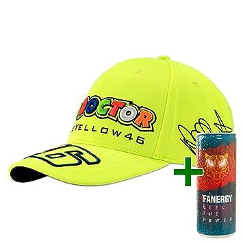 Valentino Rossi VR46 Adultos Cap Gorra Gratis fanergy Energy Tipos de Fan Artículo thedoctor Firma Autógrafo: Amazon.es: Deportes y aire libre