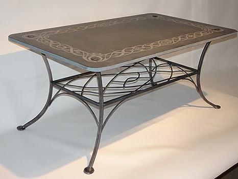 Table basse en ardoise - Design individuel avec bordure ...