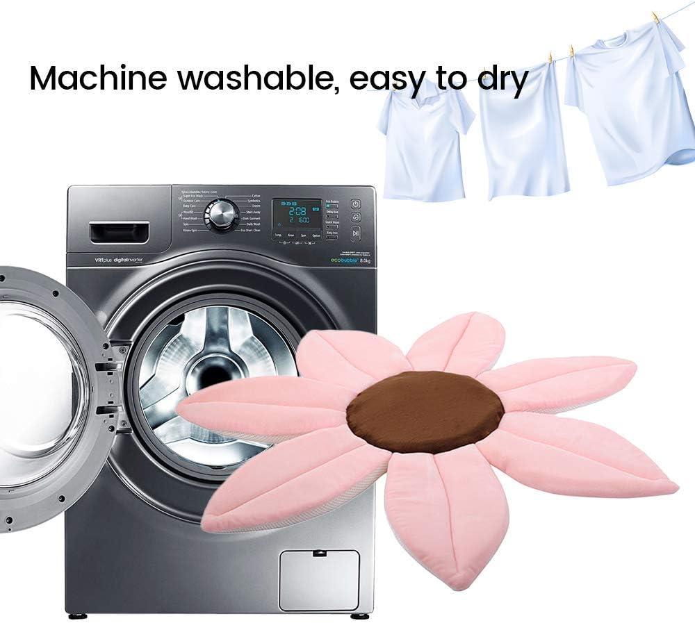 Baden Sie Ihr Kind Im Waschbecken Gepolsterte Liegefl/äche Kuschelig /& Weich YUEHAPPY/® Badeblume 100/% Baby Badespa/ß