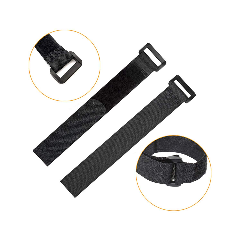 Pasow Sangle r/églable Attaches de c/âble Organiseur Fermeture avec Boucle en Plastique 300/mm x 25/mm