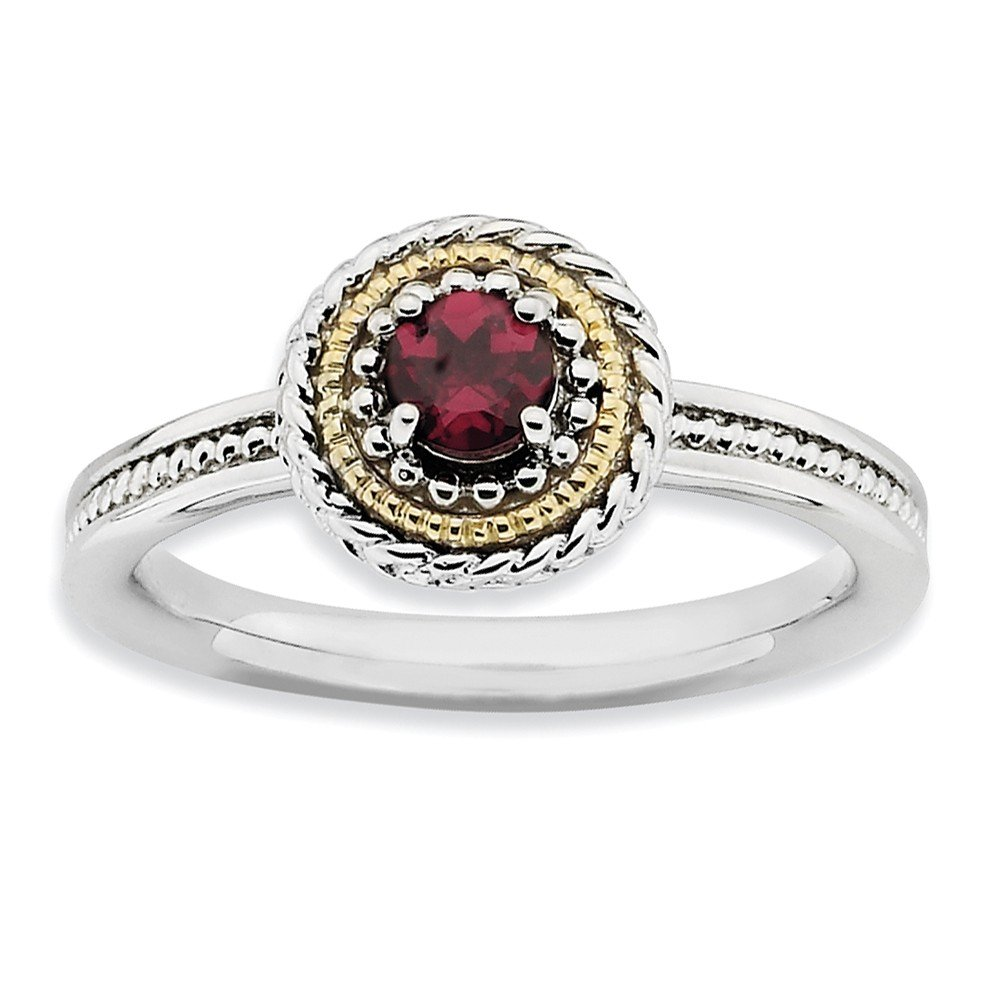 Top 10 Jewelry Gift Sterling Silver & 14k Stackable Expressions Rhodolite Garnet Ring