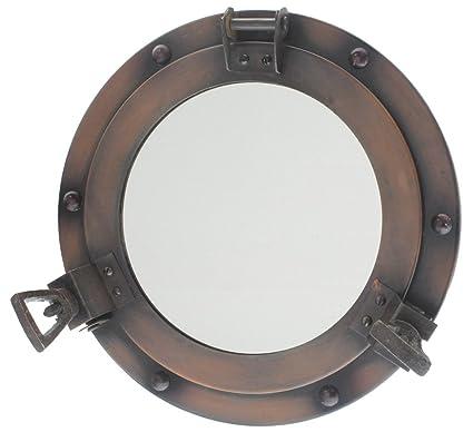 decor navy inch mirror blue nautical bedroom porthole buy ship decorative beach