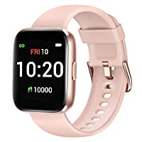 Letsfit Smart Watch for Android Phones Compatible with iPhone Samsung, Fitness Tracker with Blood Oxygen Saturation & Heart Rate Monitor, IP68 Waterproof Cardio Watch for Women Men, Pink
