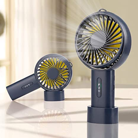 Handheld Fan Mini Portable Electric Fan with USB Rechargeable Battery for Home Office OutdoorTravel Run-Blue