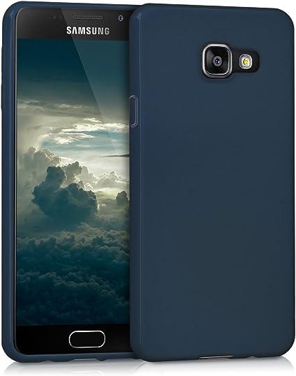 kwmobile Coque Compatible avec Samsung Galaxy A3 (2016) - Coque Housse Protectrice pour Téléphone en Silicone Bleu foncé